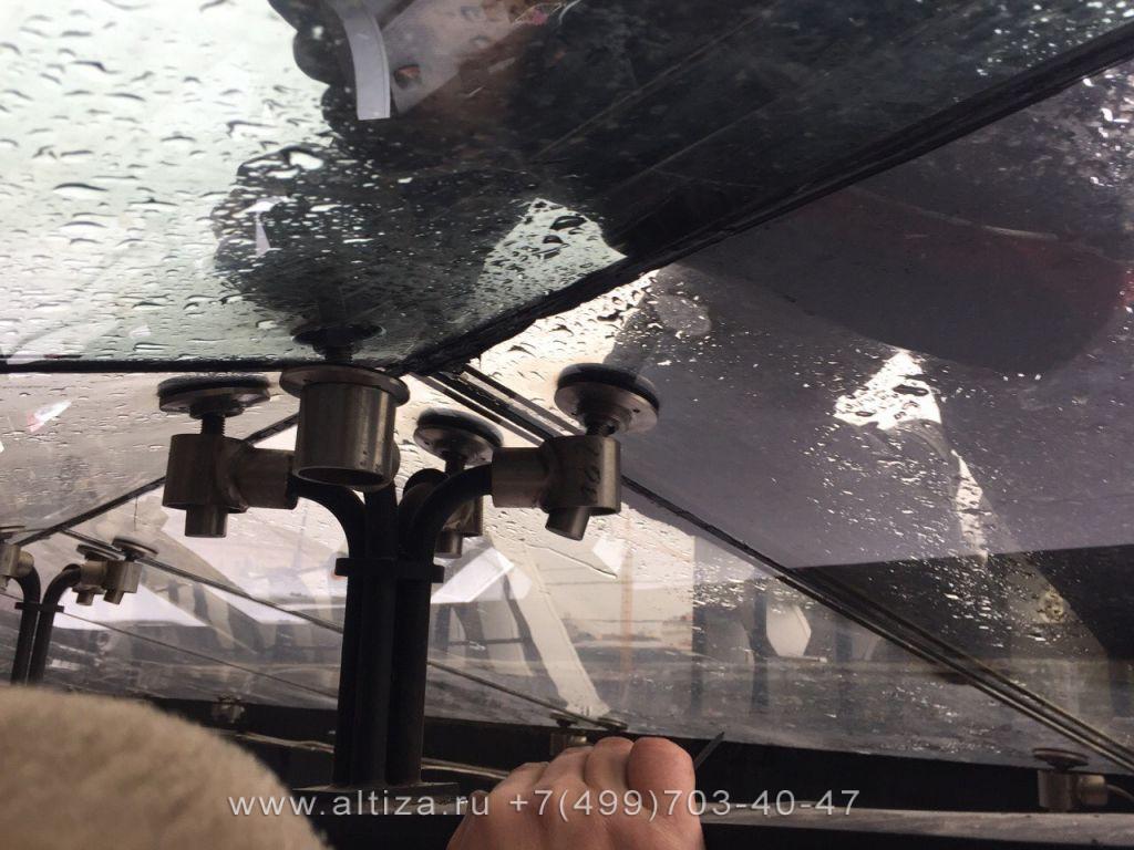 Монтаж остекления выполненые высотные работы альпинистами Альтиза