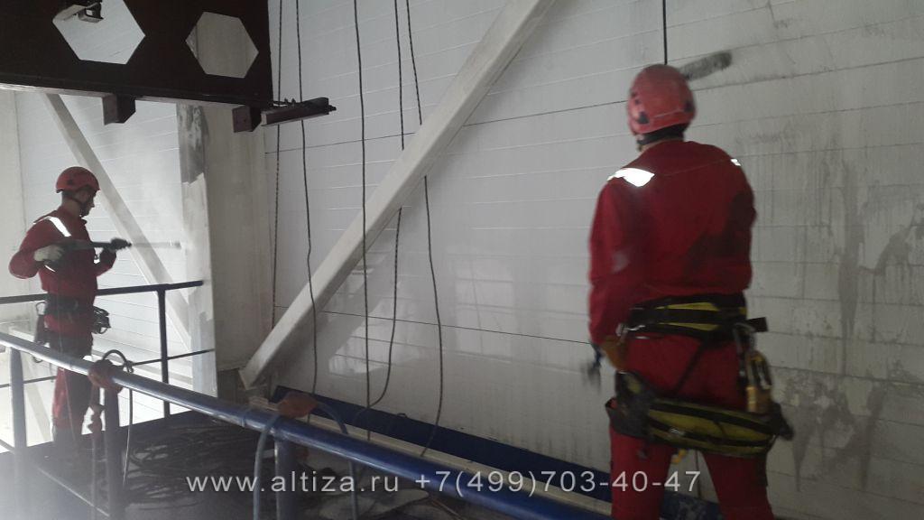 """ООО """"Масса"""" выполненые высотные работы альпинистами Альтиза"""