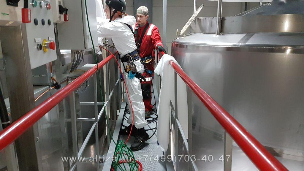 Завод Barry Callebaut выполненые высотные работы альпинистами Альтиза