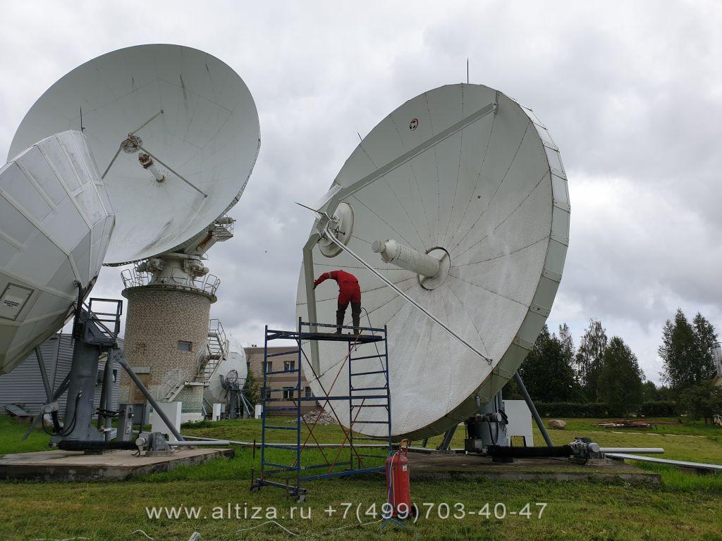 Монтаж антенных мачт