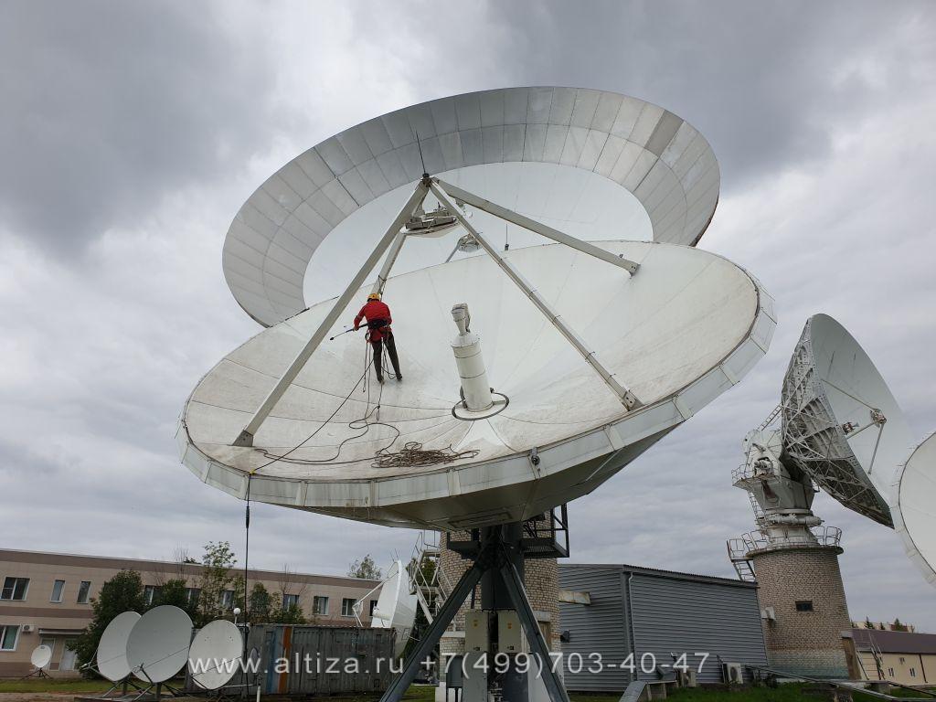 ООО «Теле-видеосистемы» выполненые высотные работы альпинистами Альтиза