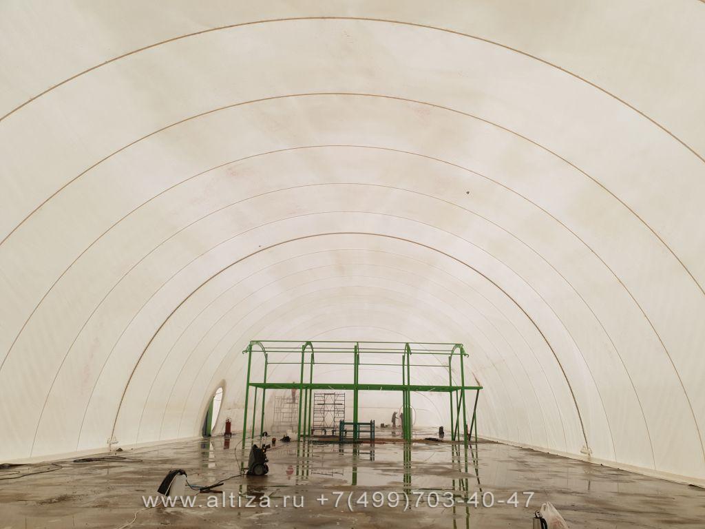 Мойка тентового шатра выполненые высотные работы альпинистами Альтиза