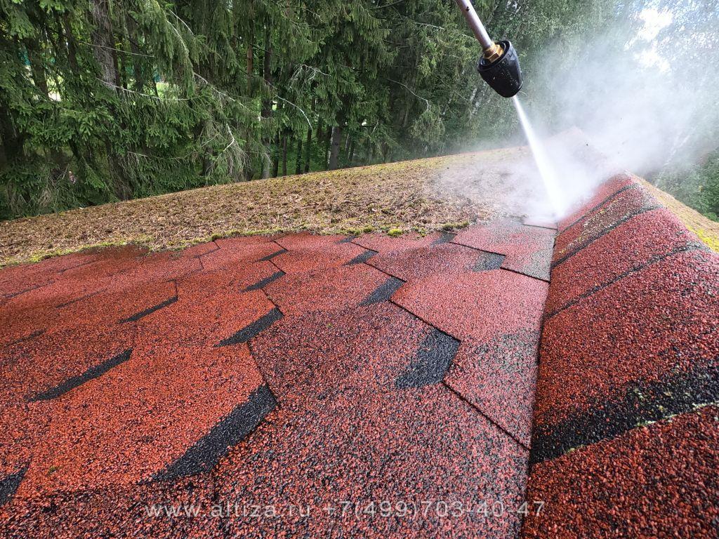 средство от мха на крыше