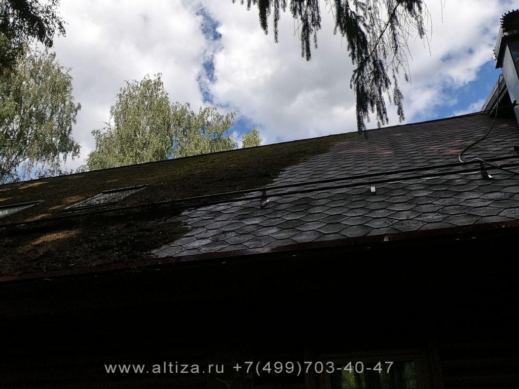 обработка крыши от мха