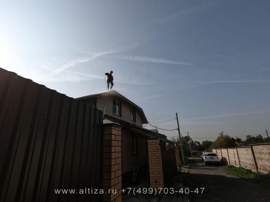 очистить крышу от мха недорого