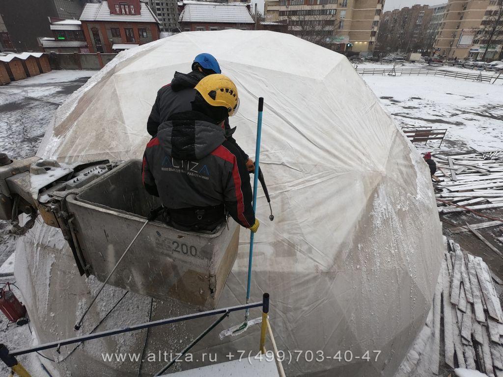 Александр Мытищи выполненые высотные работы альпинистами Альтиза