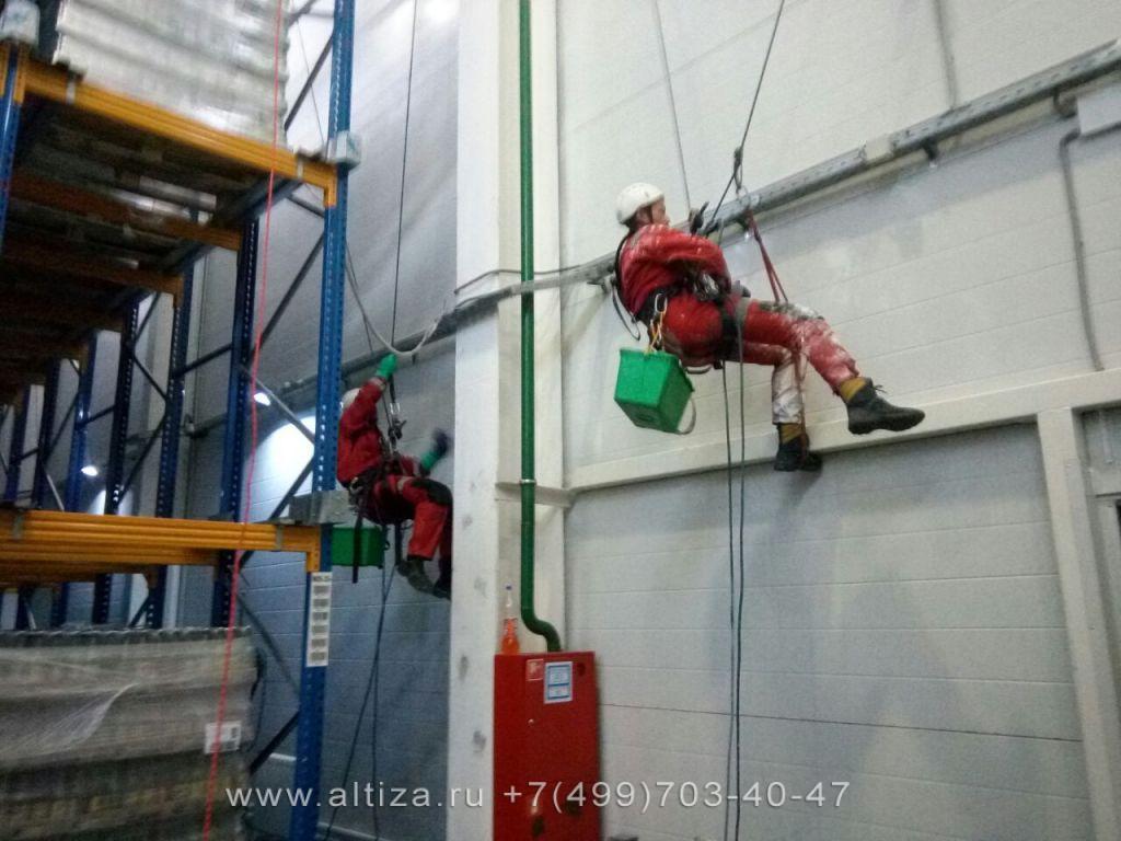 ЗАО «Московская Пивоваренная Компания» выполненые высотные работы альпинистами Альтиза