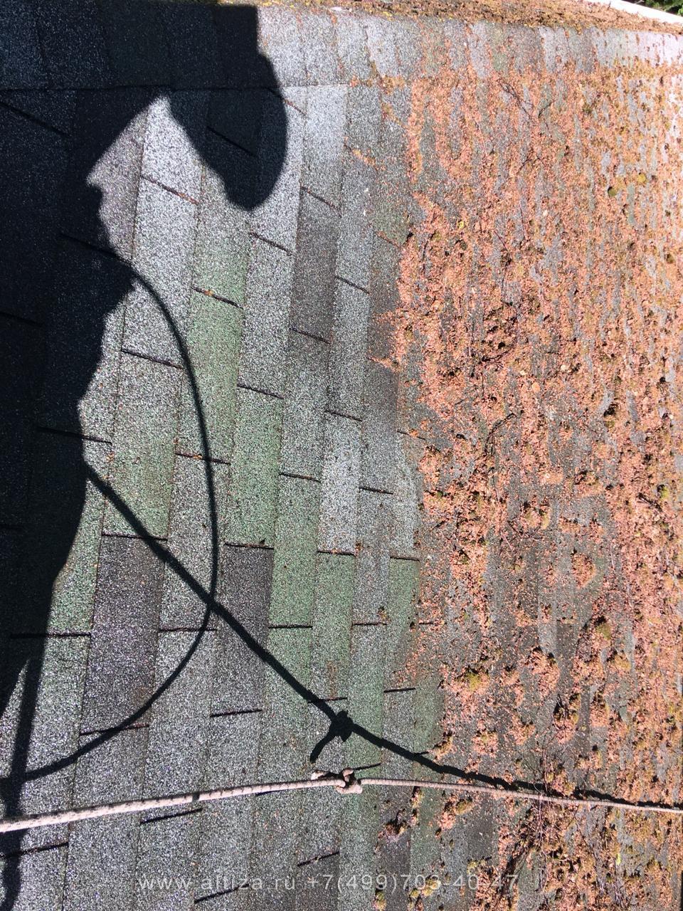 Очистка крыш от мха и лишайников