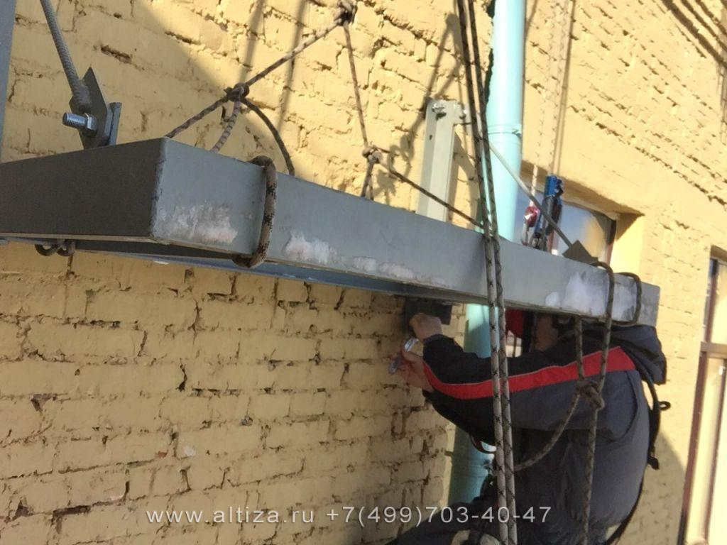 Монтаж конструкции
