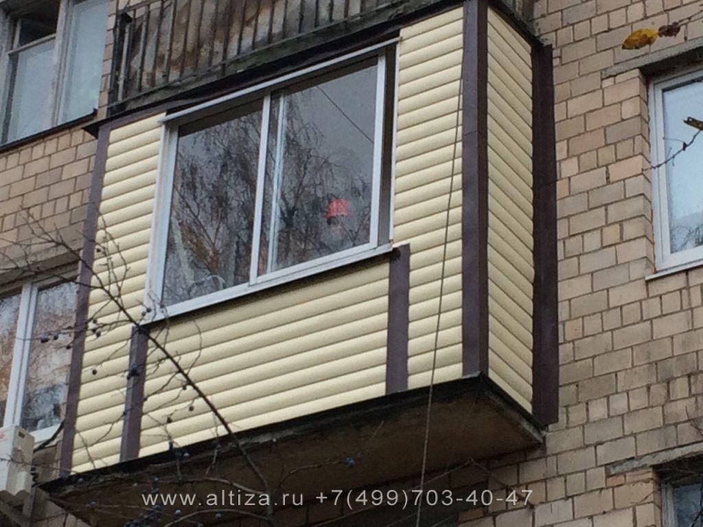Готовый балкон заказчик доволен