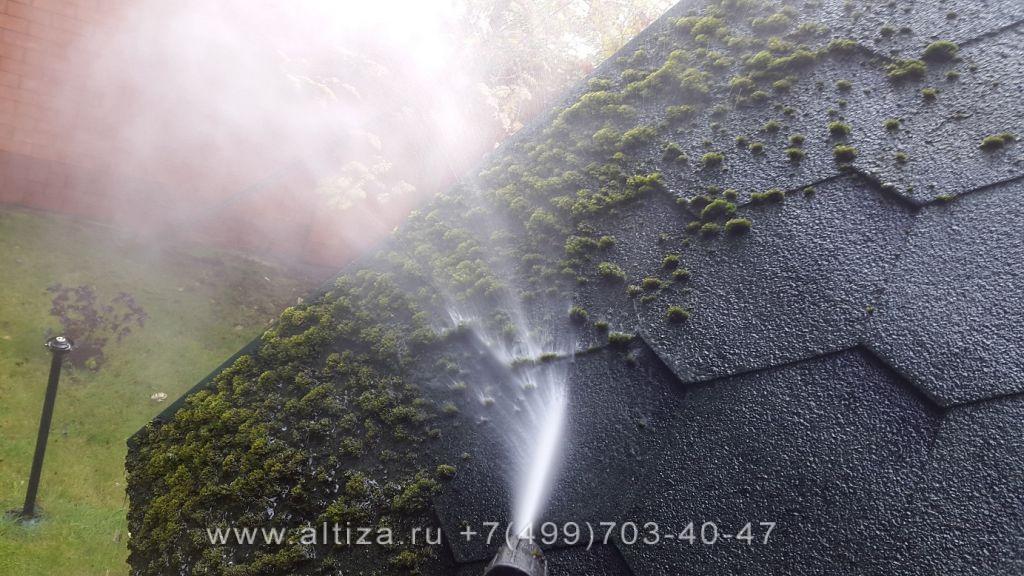 Чем очистить мох с крыши