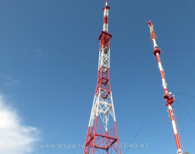 Монтаж антенны