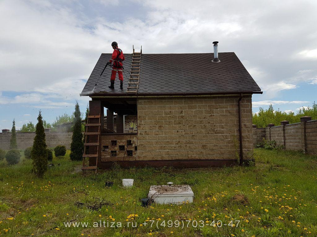 Окрашивание крыши