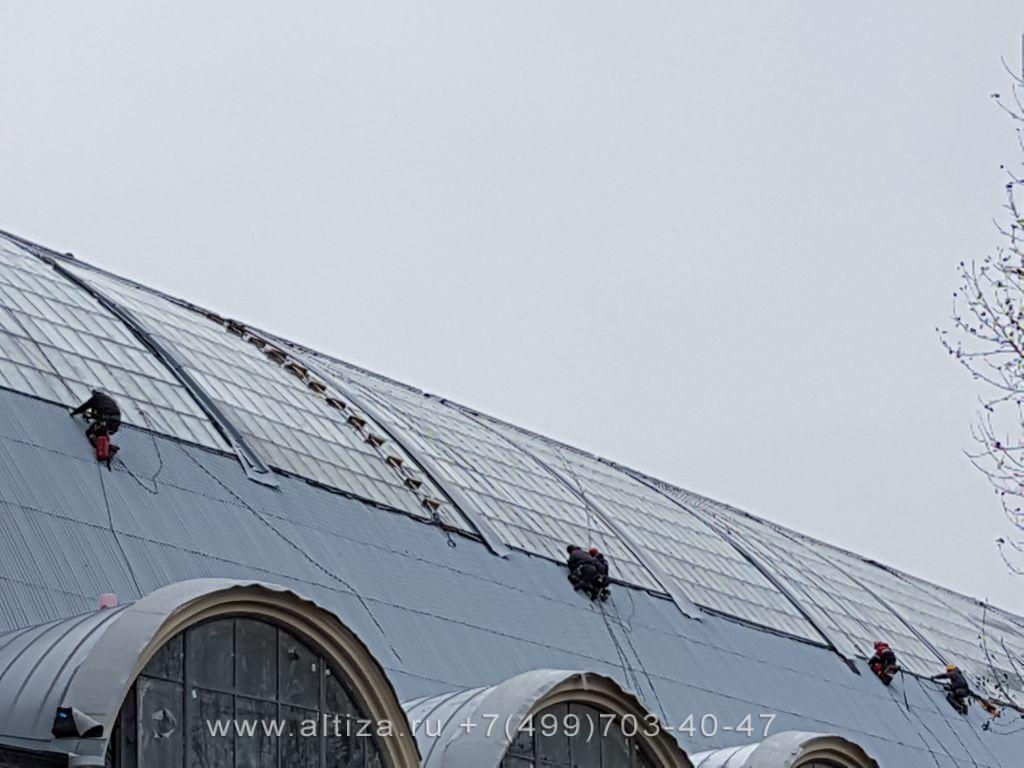 ВДНХ Музей Космос Машиностроение выполненые высотные работы альпинистами Альтиза