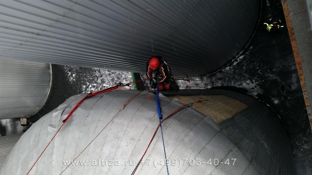 Клинский Пивоваренный комбинат выполненые высотные работы альпинистами Альтиза