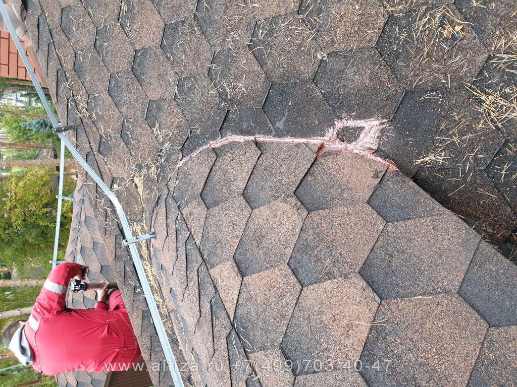 Герметизация крыши коттеджного дома