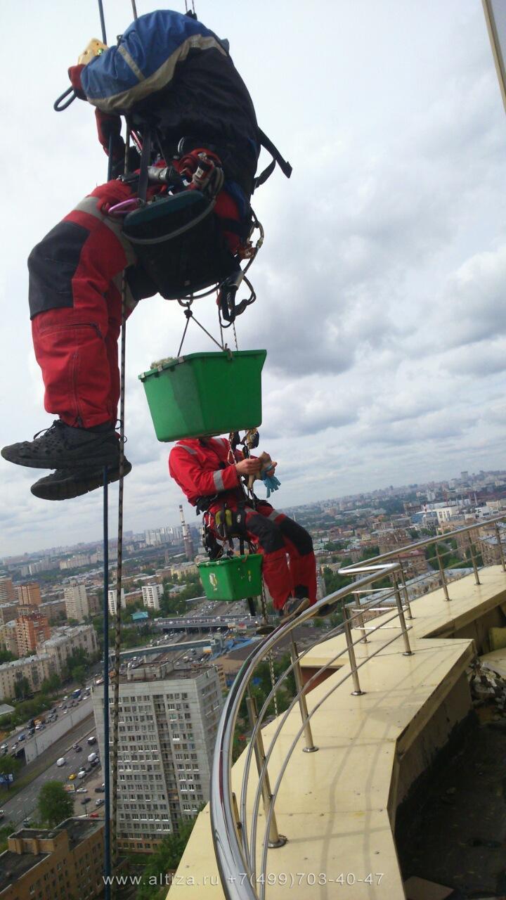 ЖК Дубровка выполненые высотные работы альпинистами Альтиза