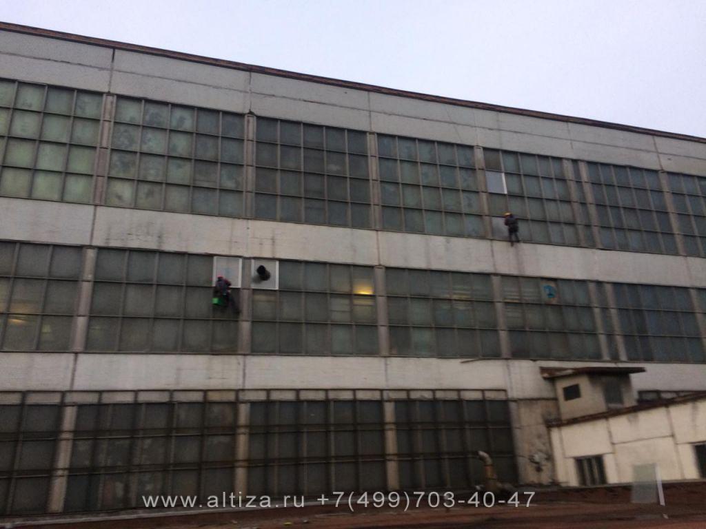 """АО """"Щелковский завод ВДМ"""" выполненые высотные работы альпинистами Альтиза"""