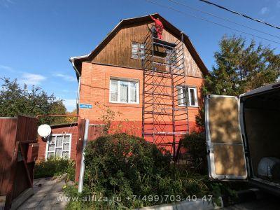 Покраска фронтона частного дома